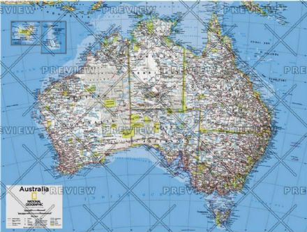 Australia Political - Atlas of the World, 10th Edition 2015 by National Geographic